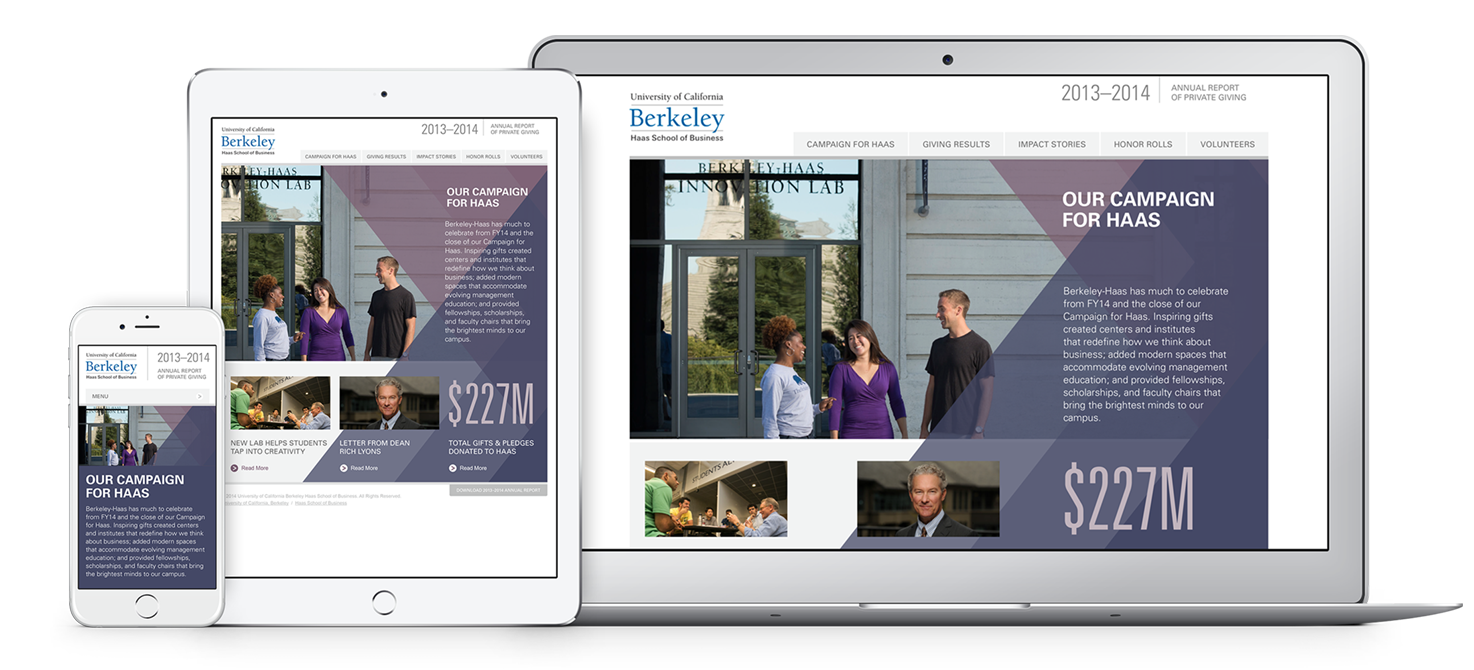 UC Berkeley Haas School of Business Responsive Website