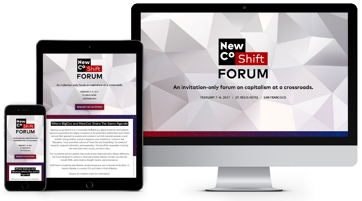 NewCo Shift Forum Responsive Website