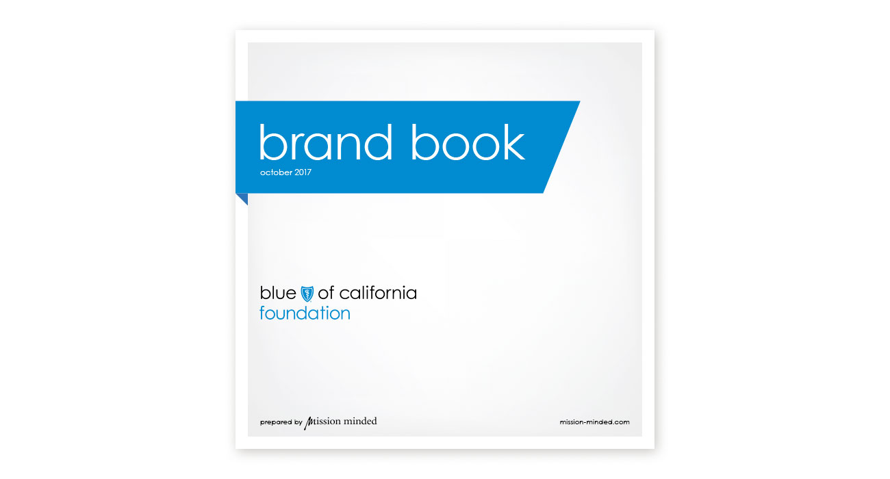 Blue Shield of California Foundation Brand Book Cover