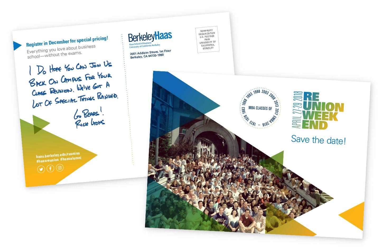 Haas School Reunion Weekend Save-the-date Postcard