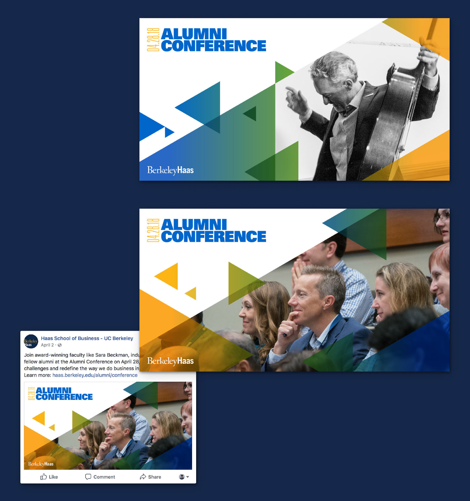 Haas School Alumni Conference Social Media Graphic