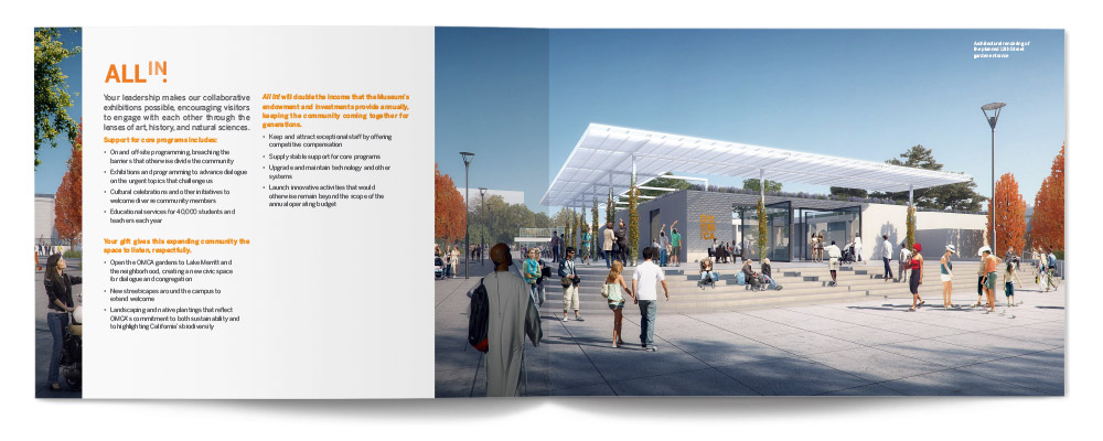 Oakland Museum of California All In! Brochure Spread