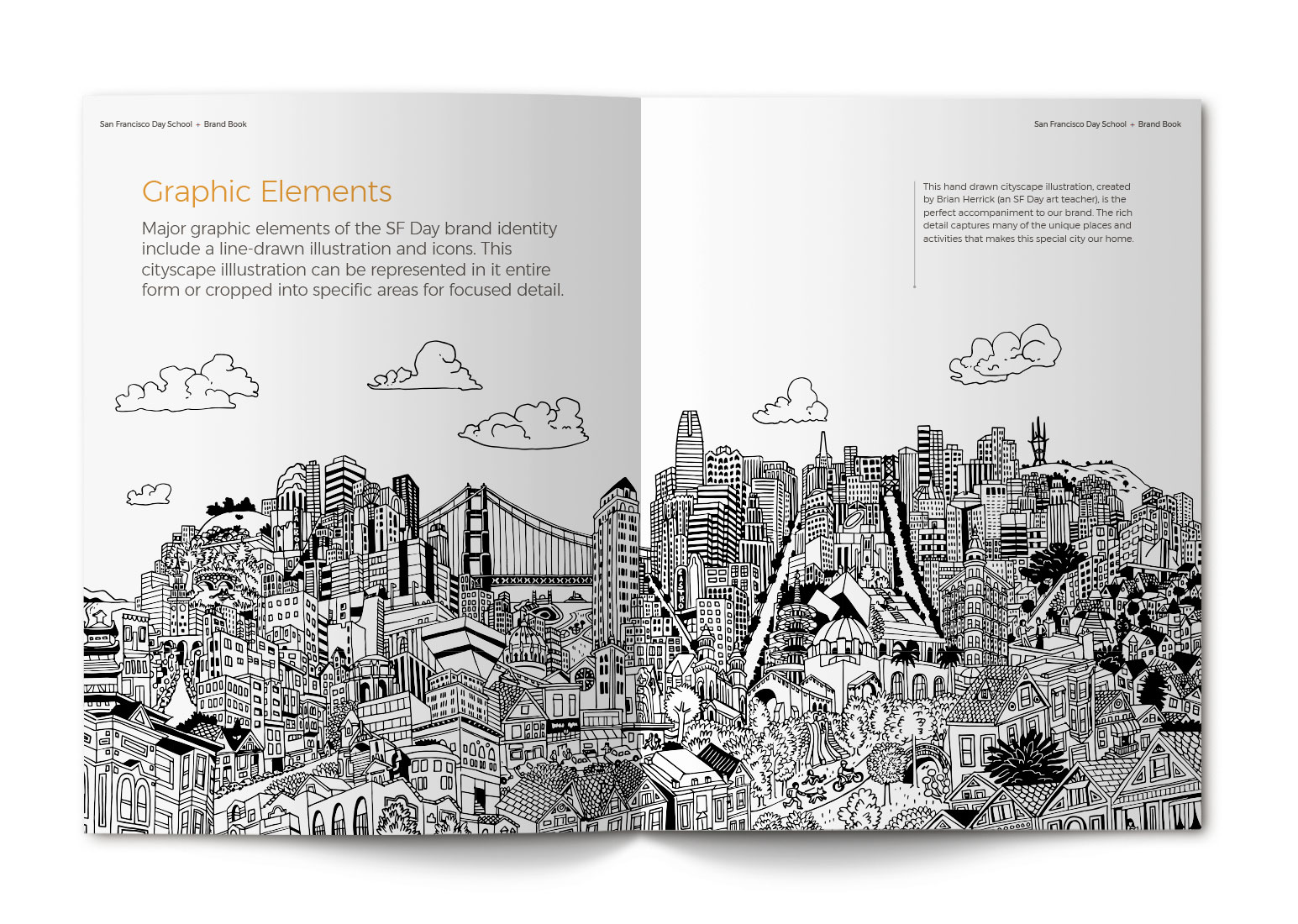 San Francisco Day School Brand Book Spreads - Graphic Elements