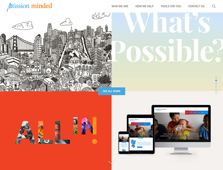 Mission Minded Website Homepage - Portfolio
