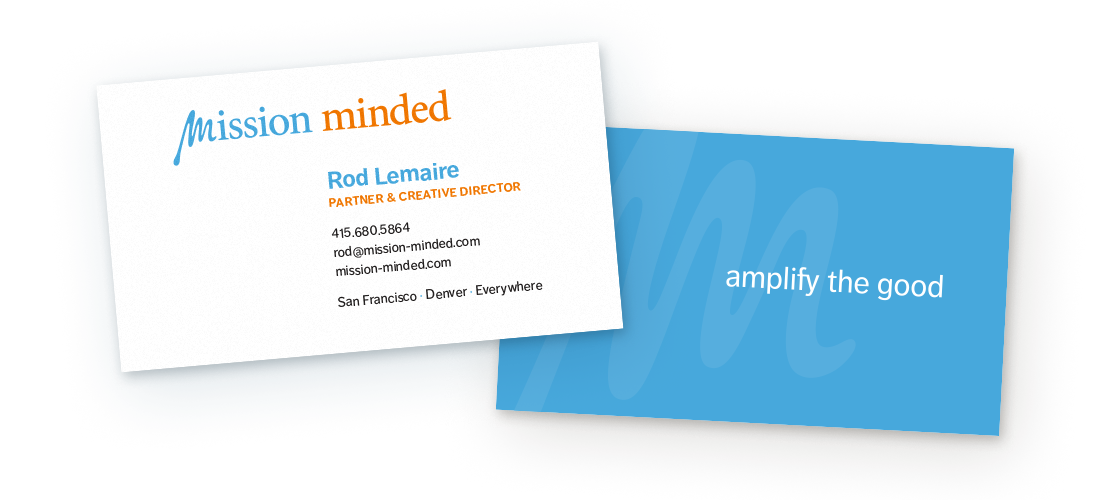 Mission Minded Business Cards