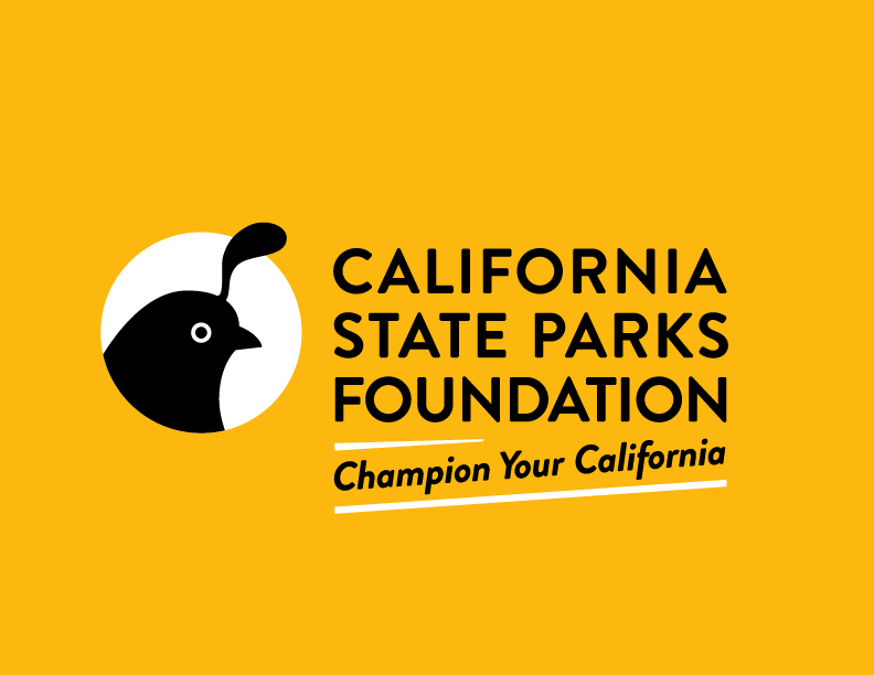 California State Parks Foundation Logo with Tagline Color Reverse