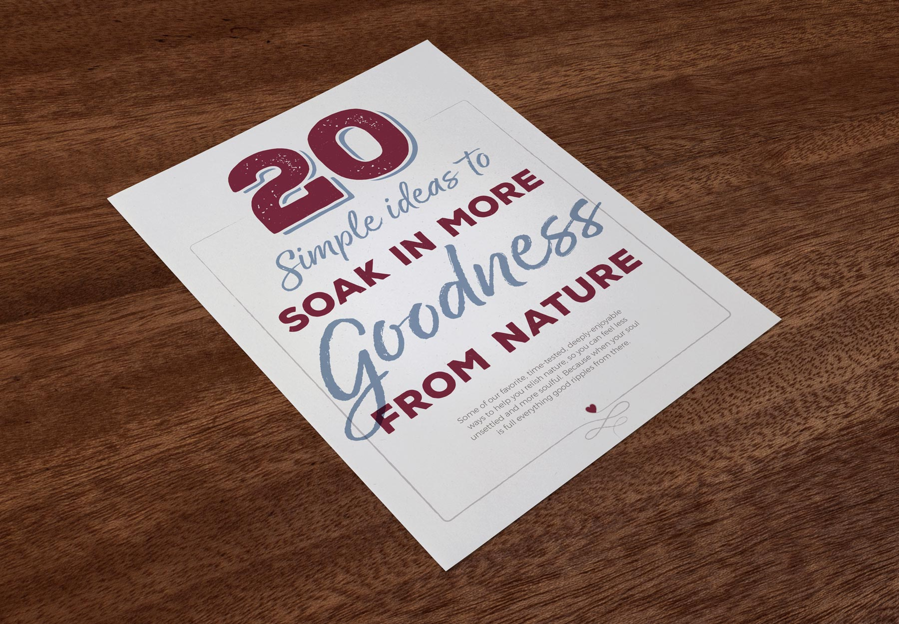 20 Simple Ideas to Soak in More Goodness from Nature