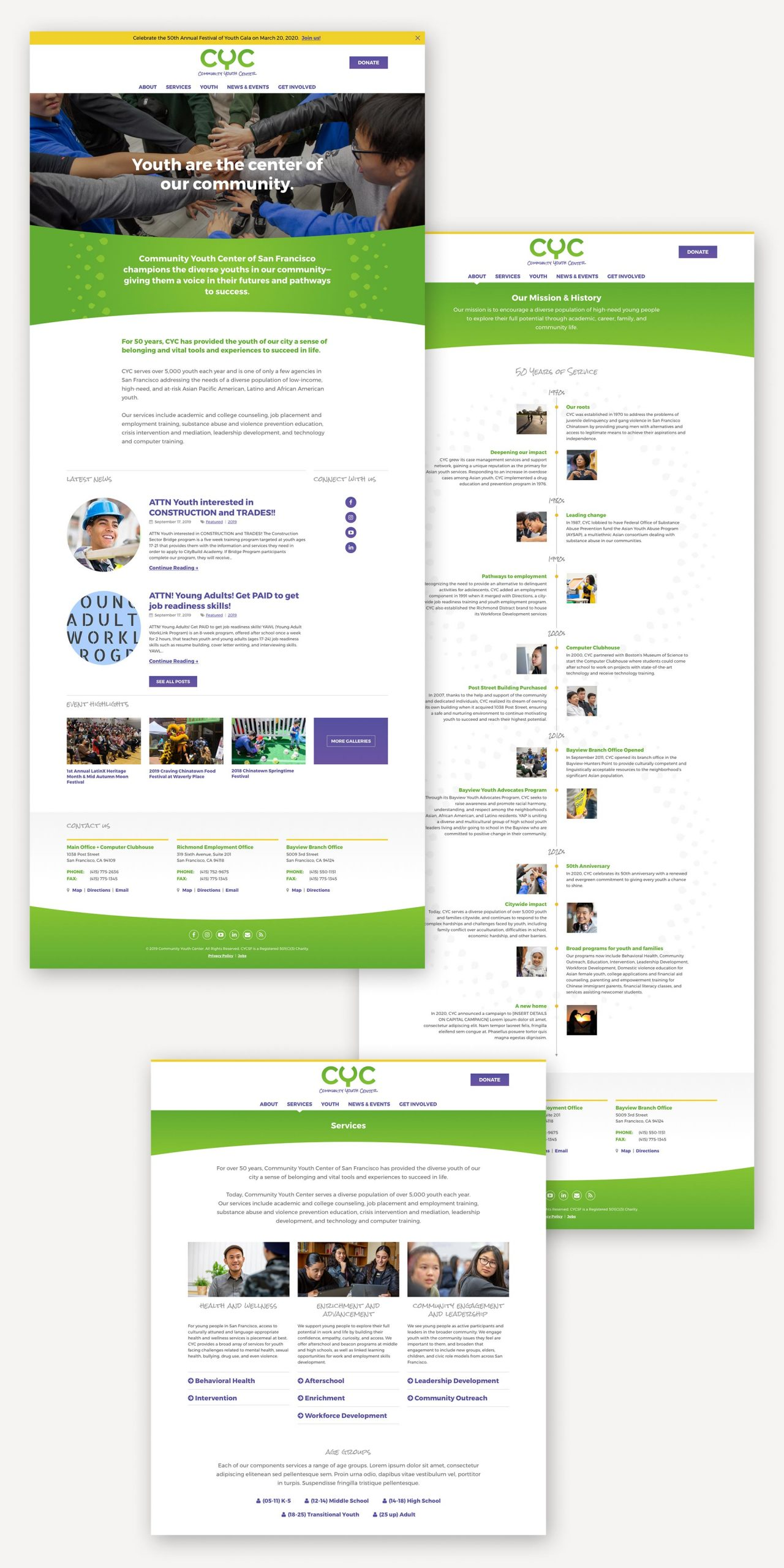 CYC website design