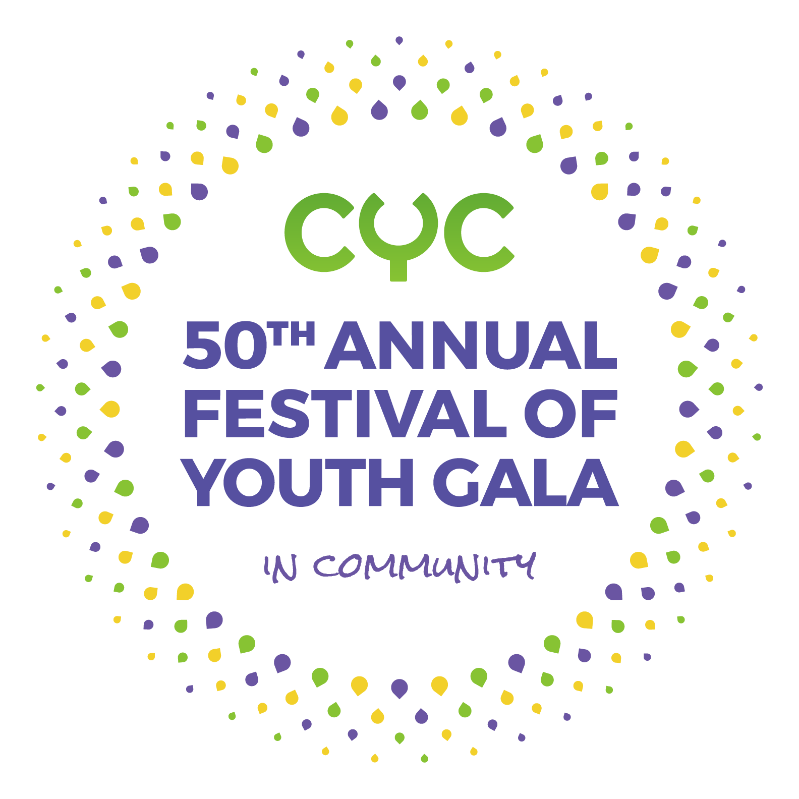 CYC 50th Anniversary Logo lockup