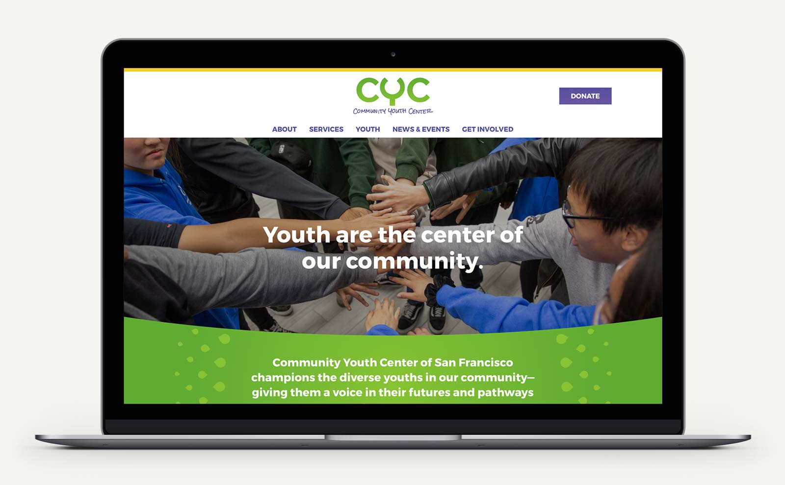 CYC website design mockup