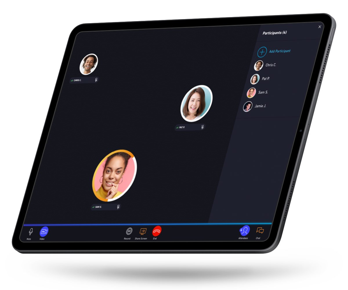 Showcase App Tablet Call