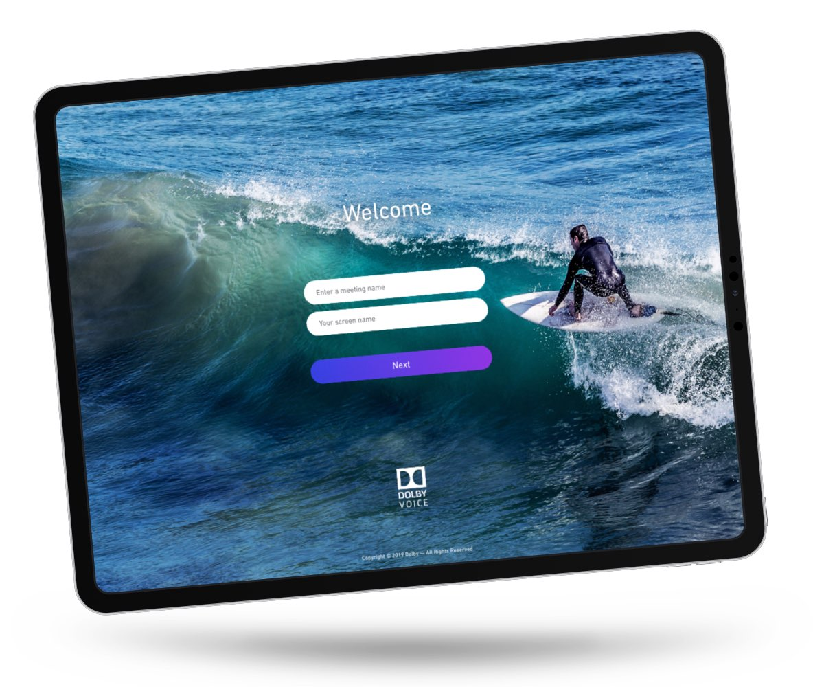 Showcase App Tablet Home