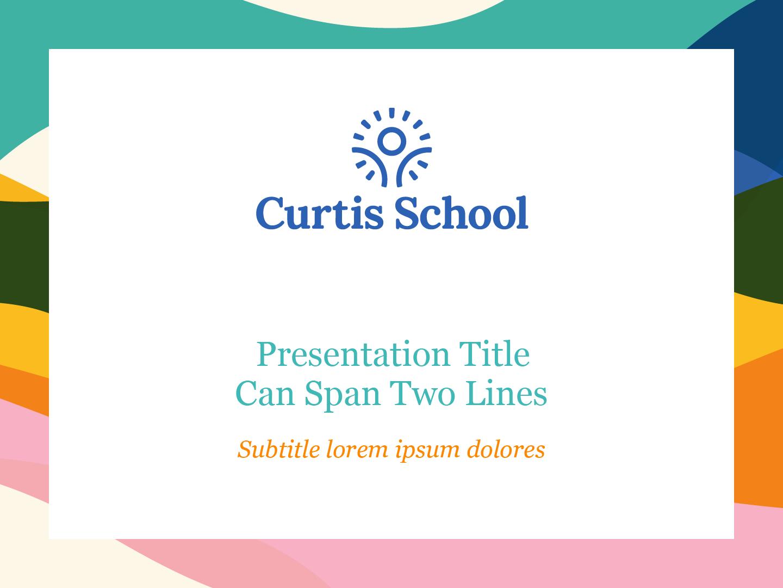Curtis School Presentation Template Title Slide