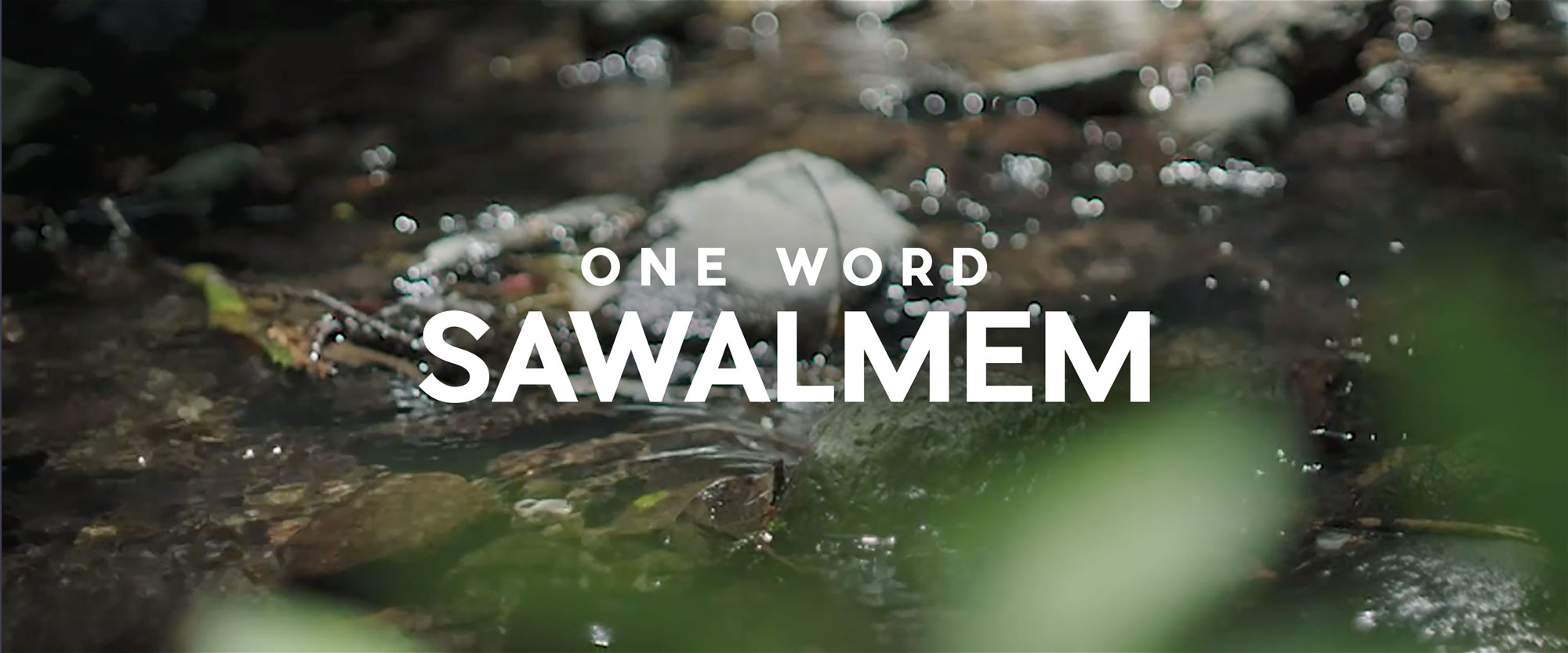 One Word Sawalmem Title Logotype