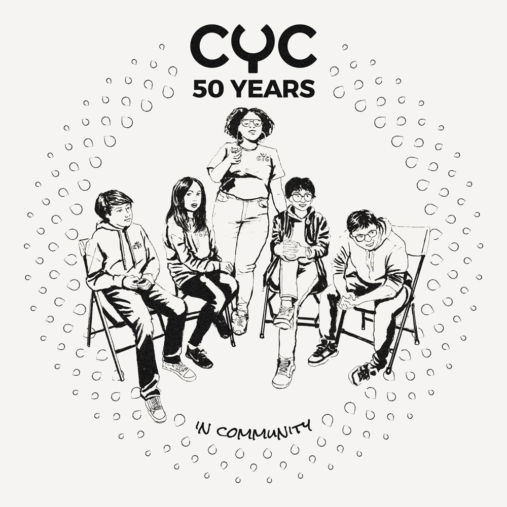 CYC 50th Anniversary Canvas Tote Bag Front Illustration