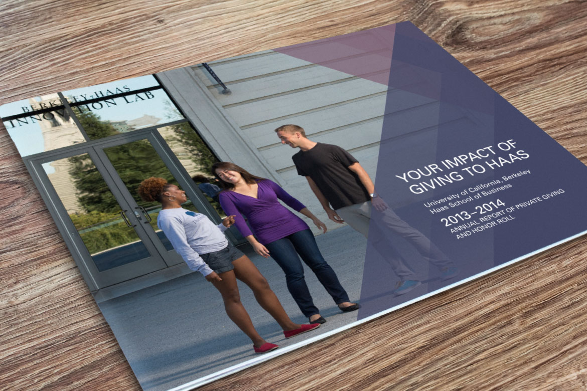 UC Berkeley Haas School of Business Annual Report Cover