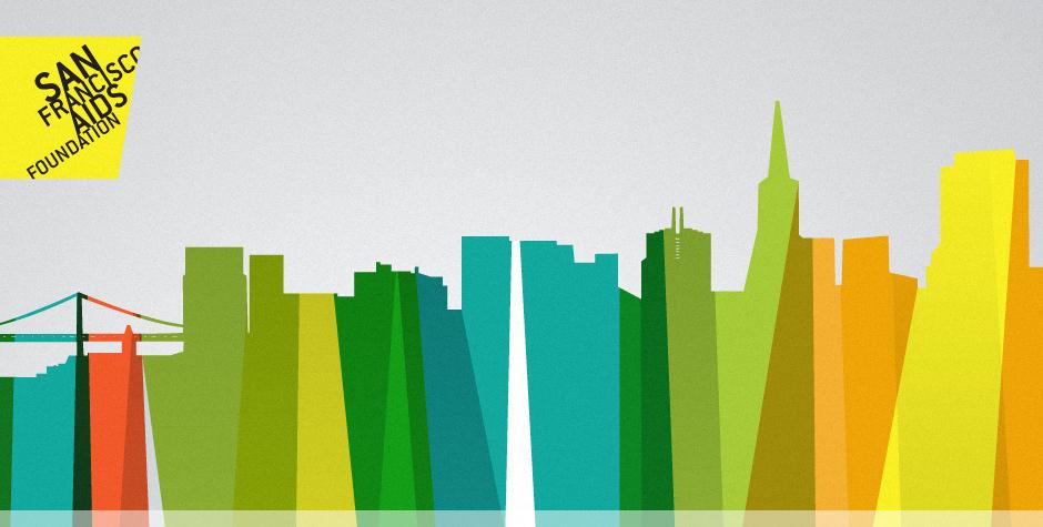 San Francisco AIDS Foundation Visual Identity Skyline