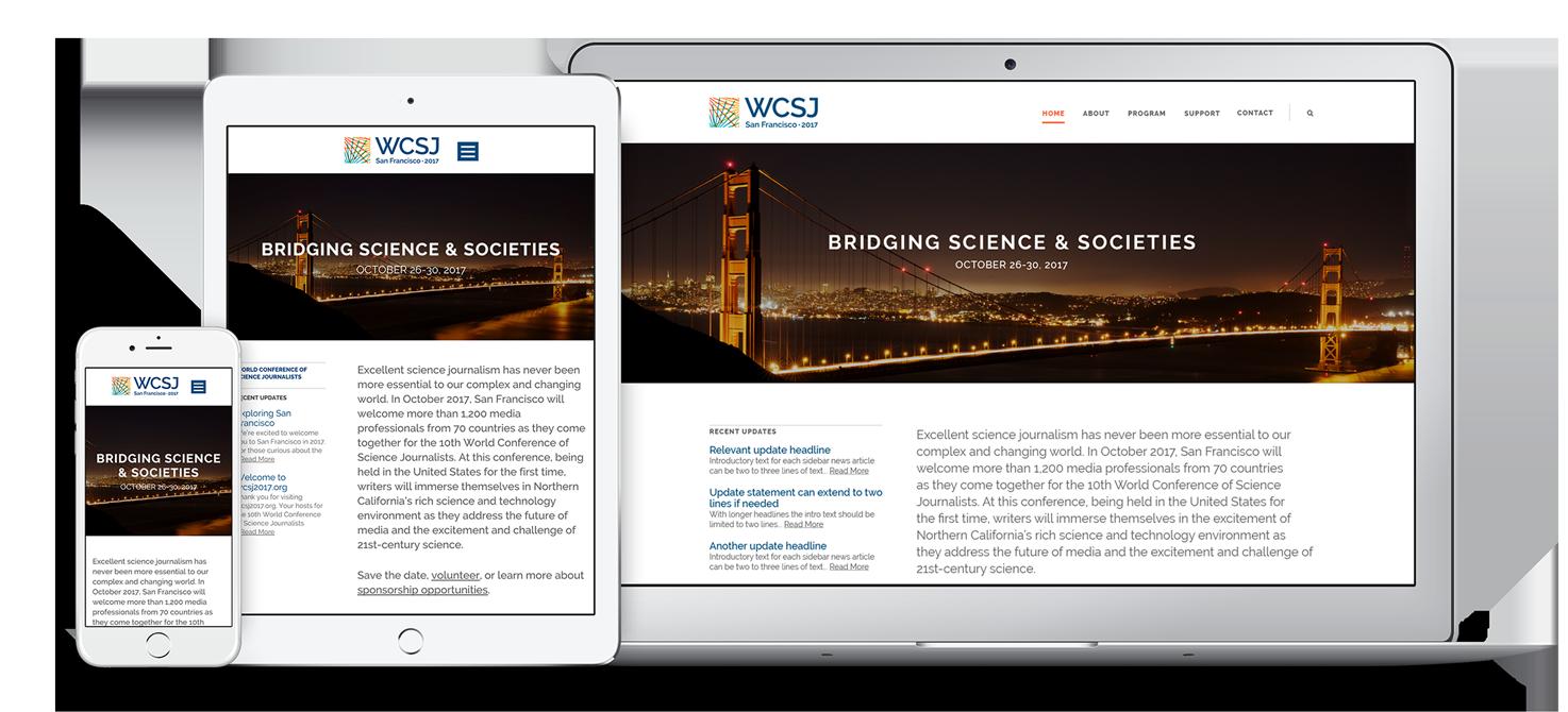 WCSJ 2017 Responsive Website