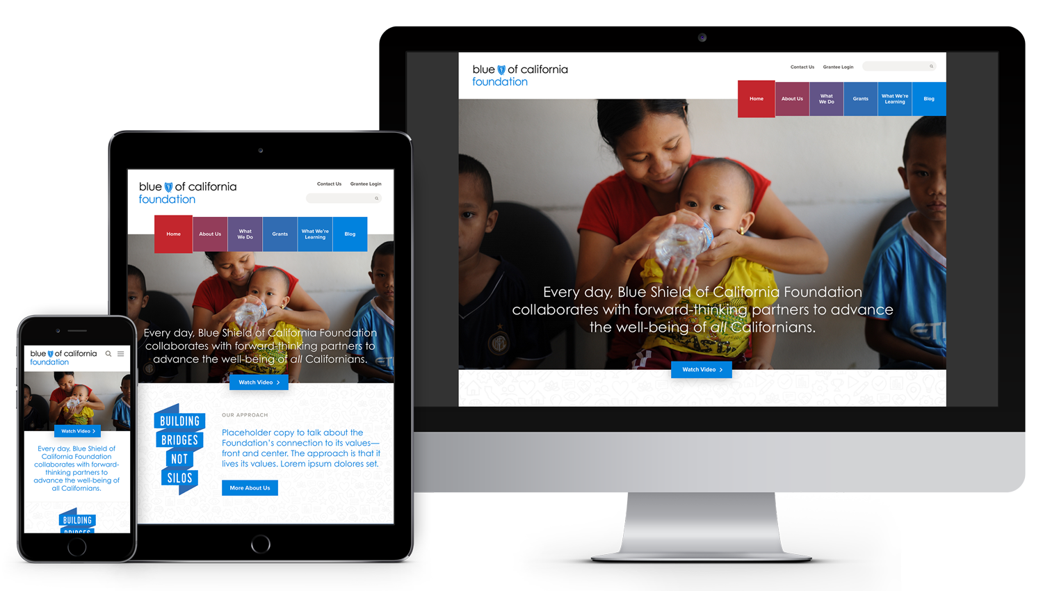 Blue Shield of California Foundation Responsive Website Design