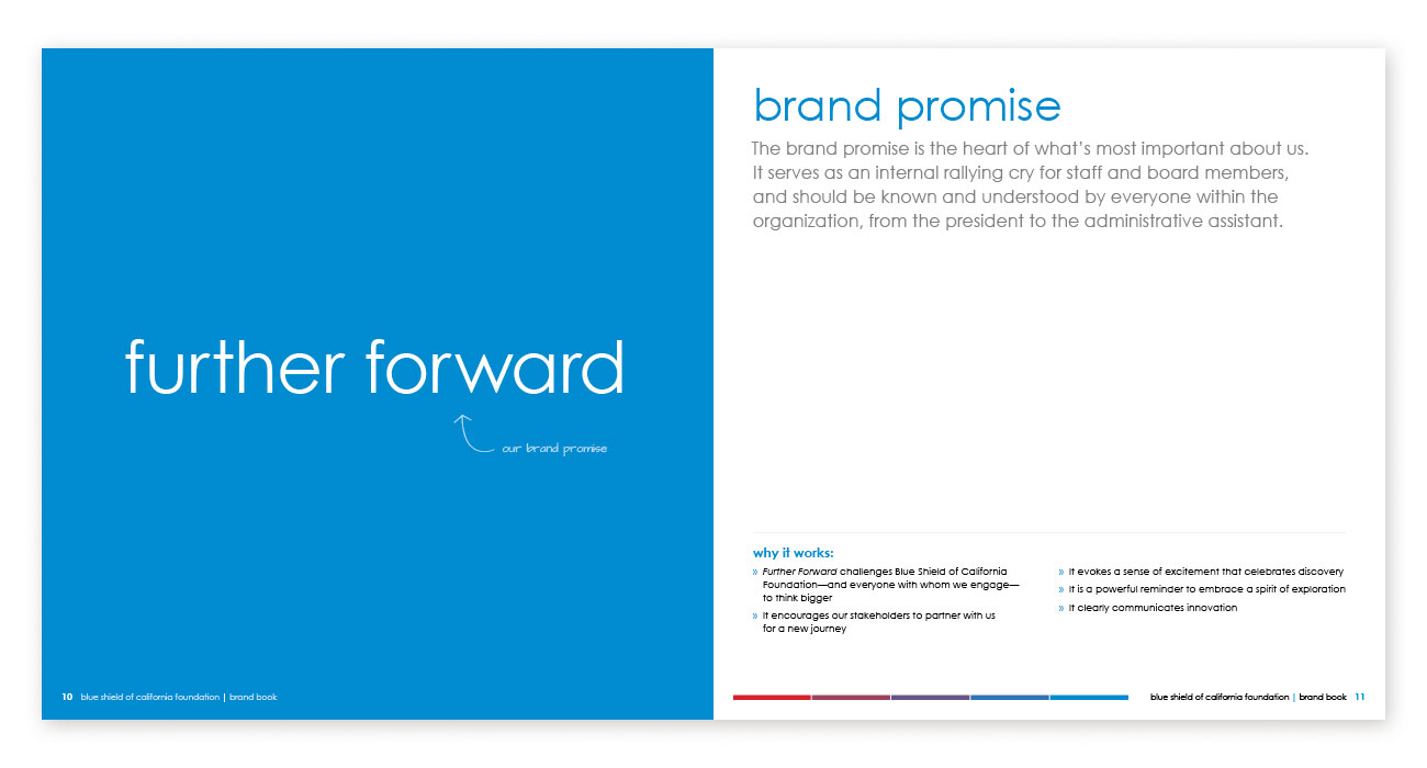 Blue Shield of California Foundation Brand Book Brand Promise