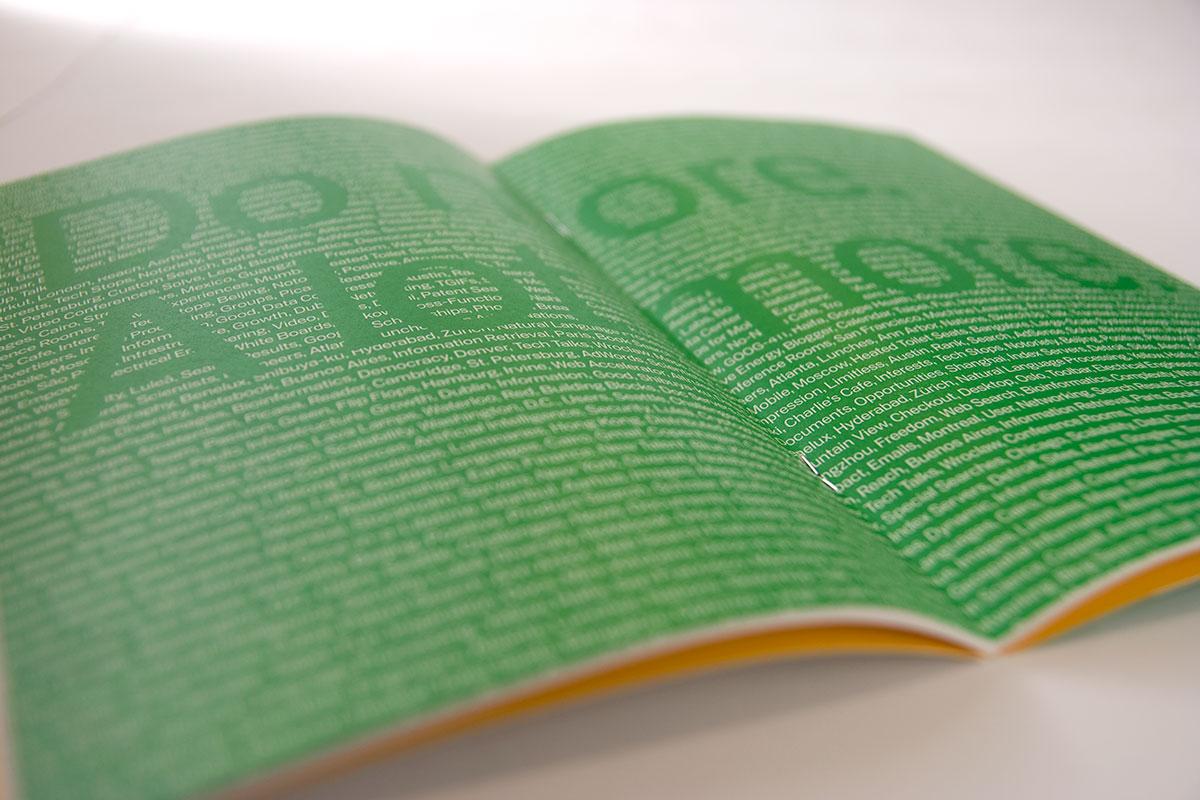 Google Booklet Interior Centerfold