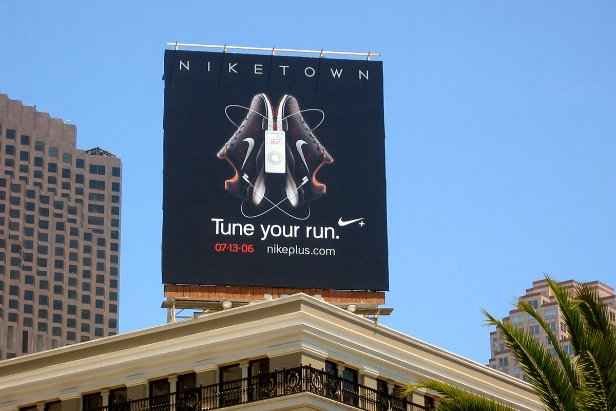 Nike Billboard in Union Square San Francisco
