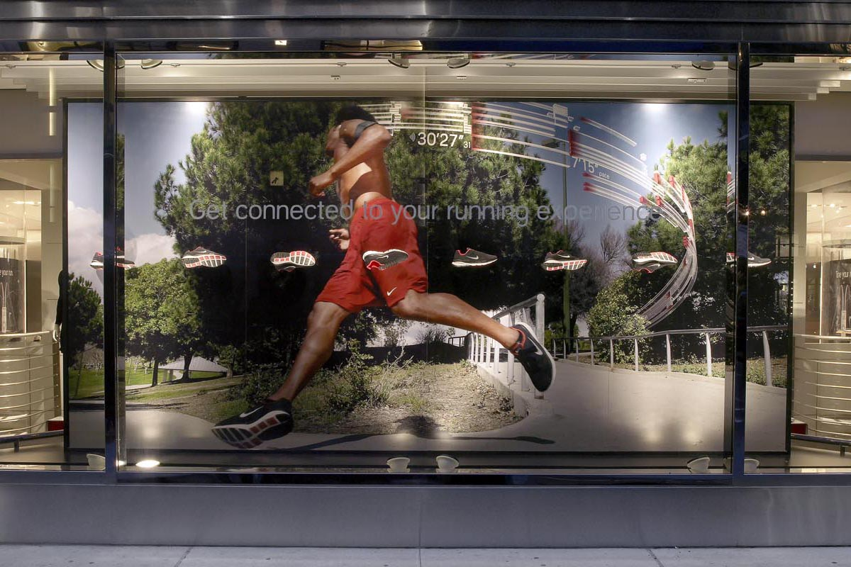 Niketown New York Window Display
