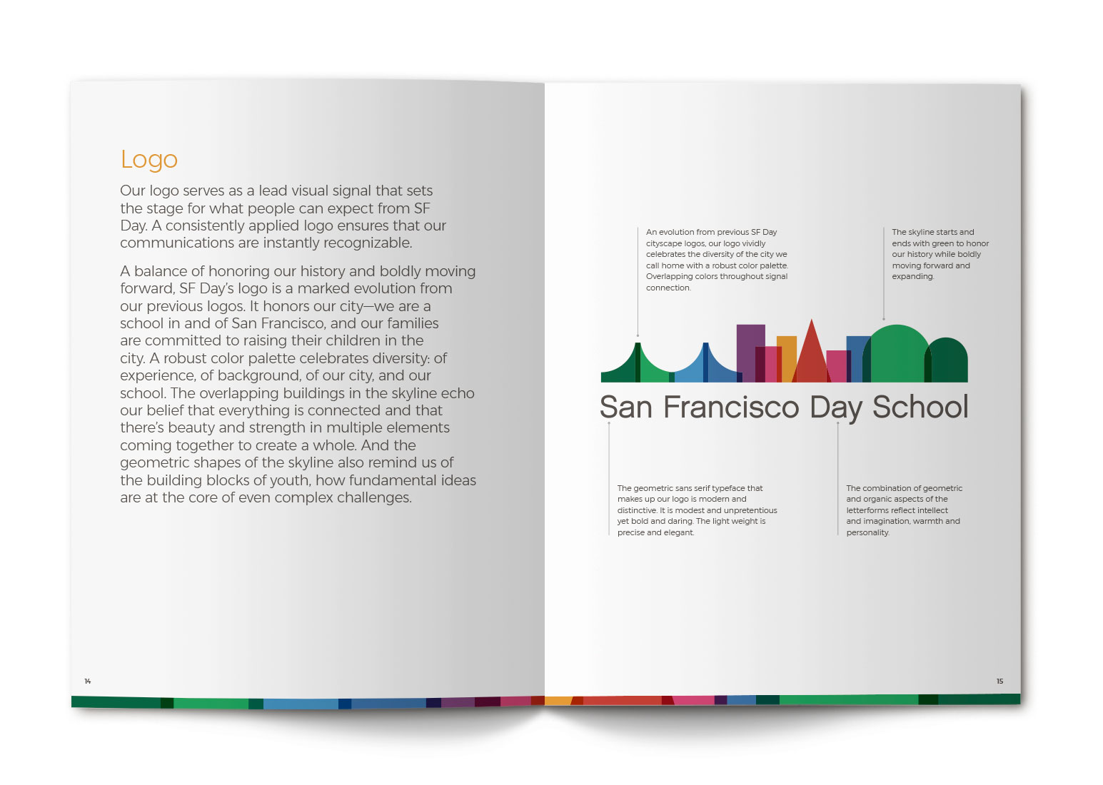 San Francisco Day School Brand Book Spreads - Logo