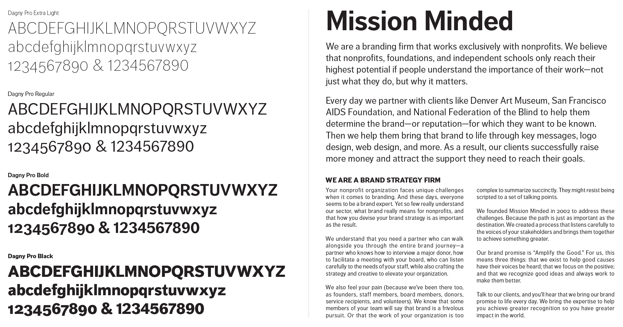 Mission Minded Typography