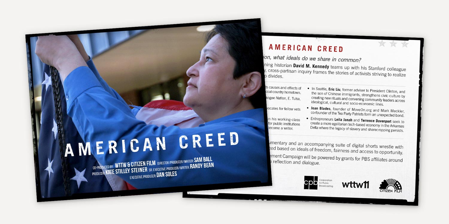 American Creed Postcard for PBS