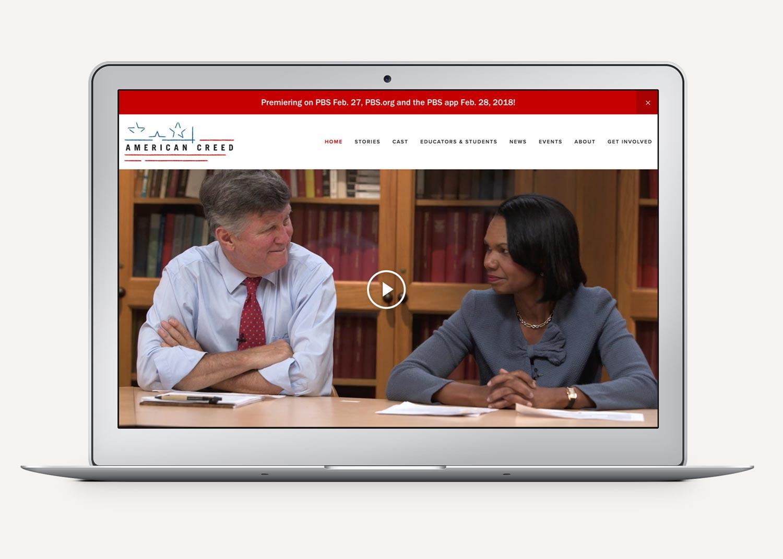 American Creed Website Homepage