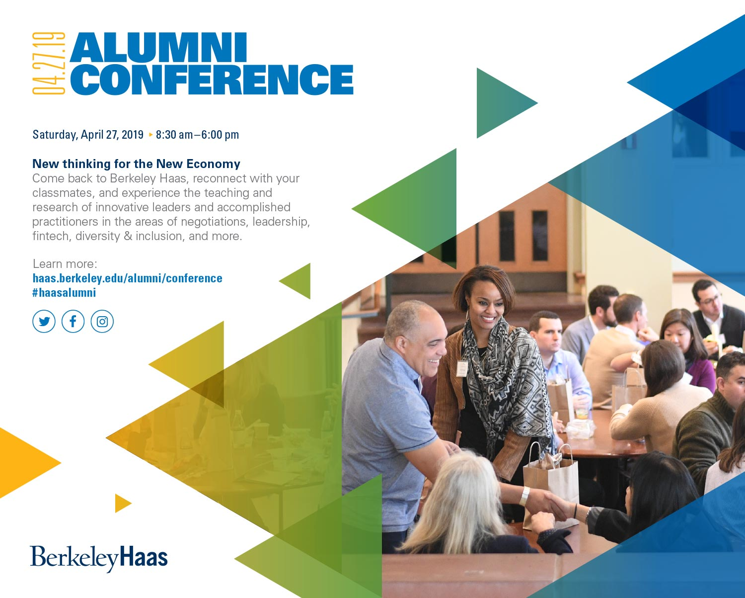 UC Berkeley Haas School Alumni Conference Ad