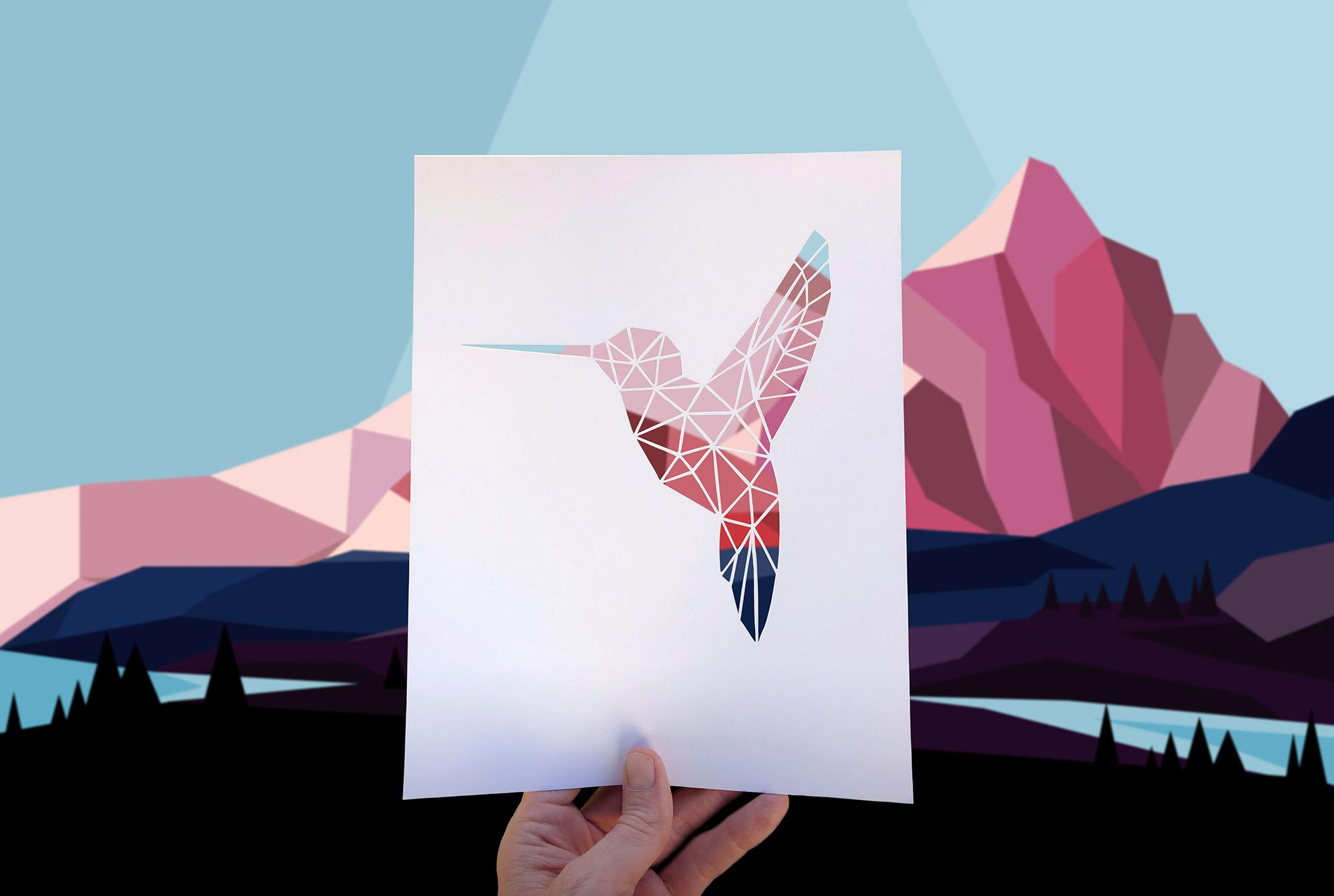 One Word Hummingbird Hero Graphic