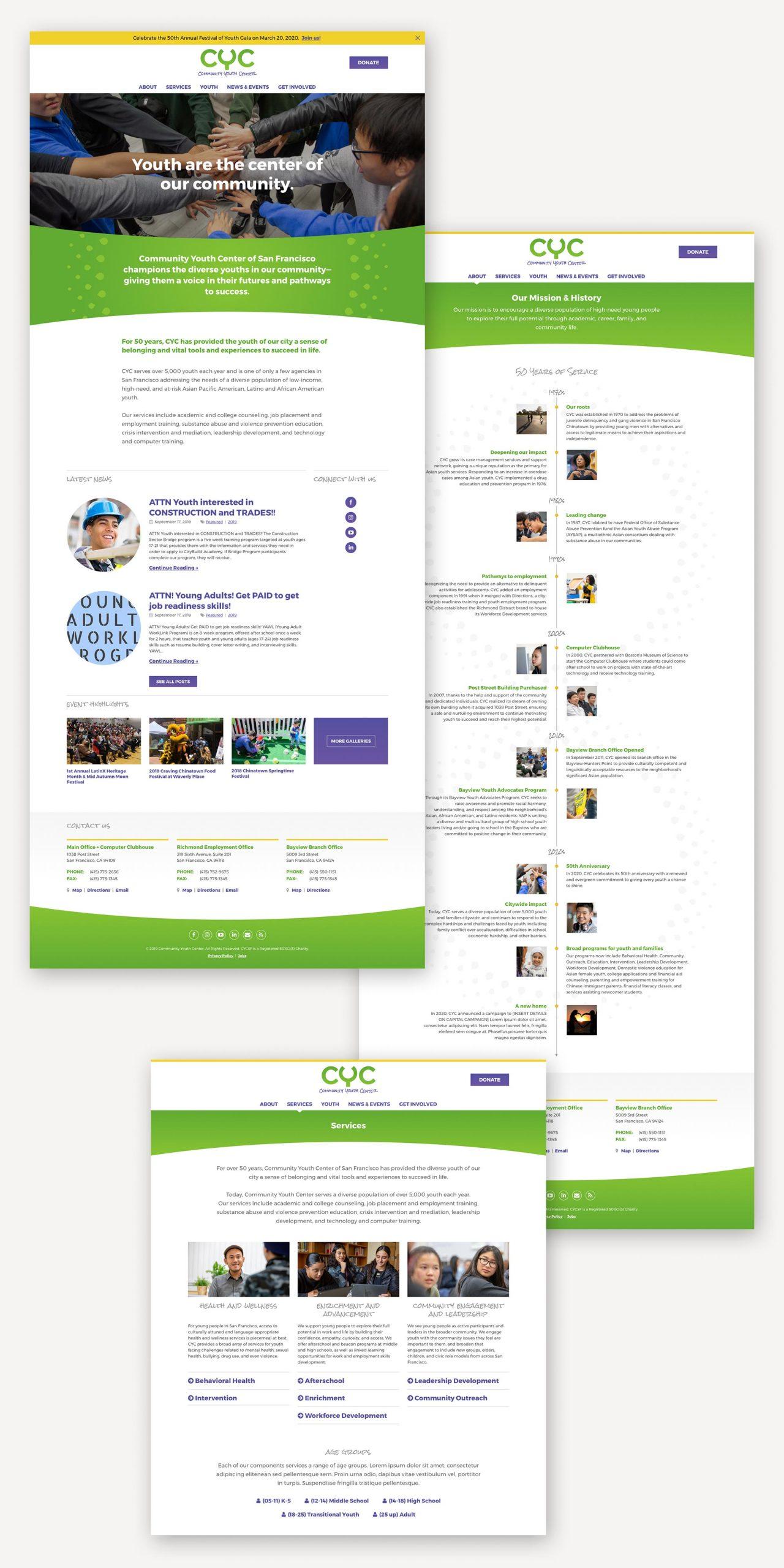 CYC website design
