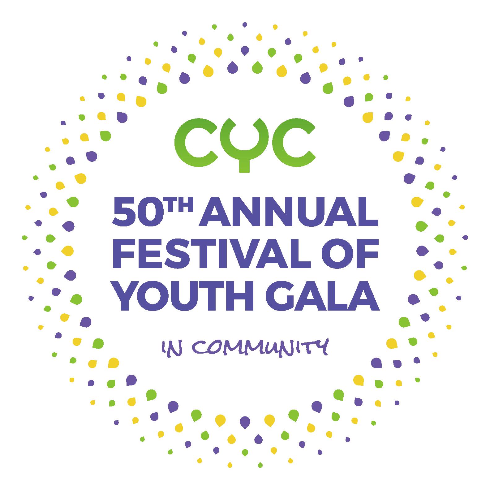 CYC 50th Anniversary Logo lockup