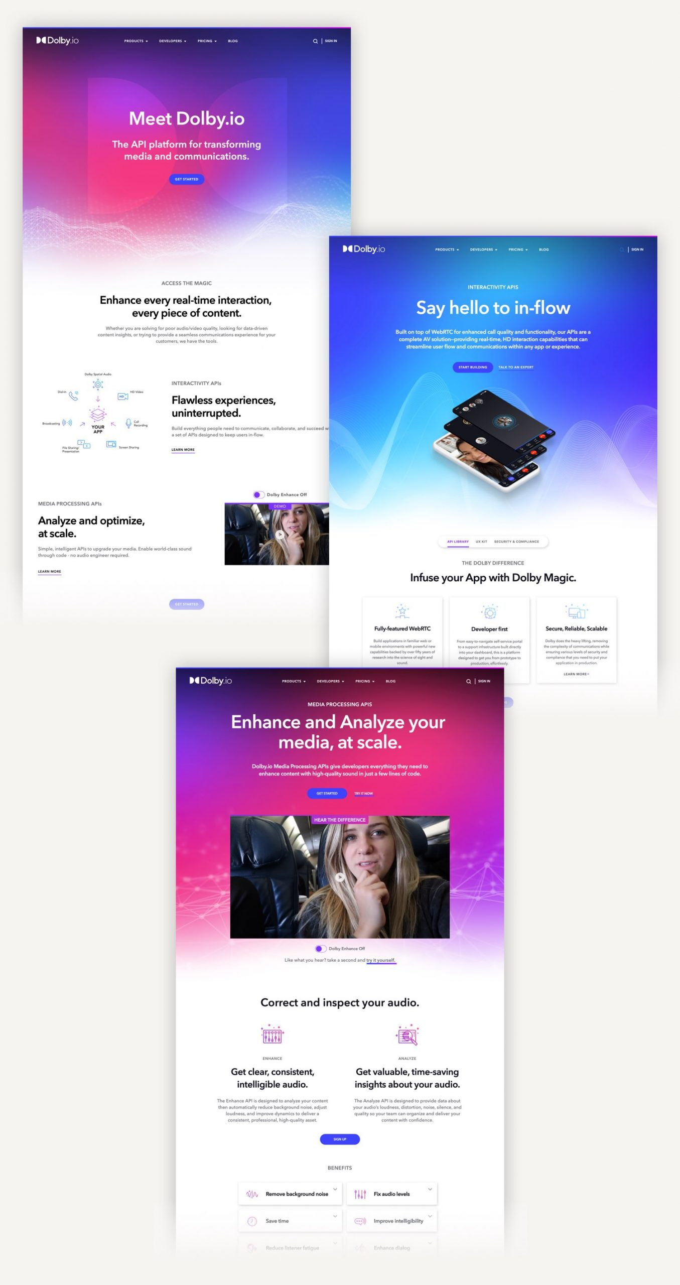 Dolby.io Website design