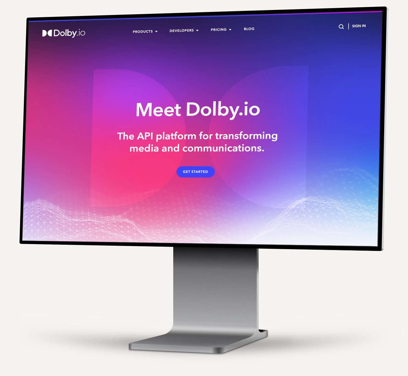 Dolby.io website mockup