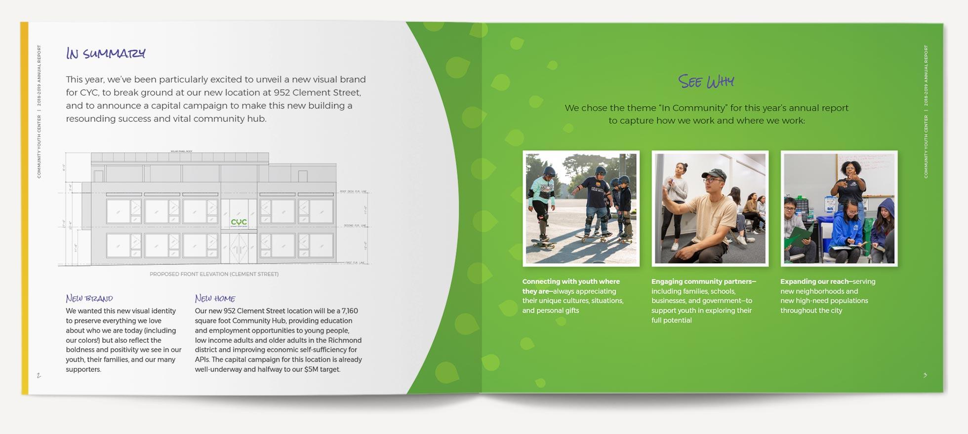 CYC Annual Report Interior Spread 2