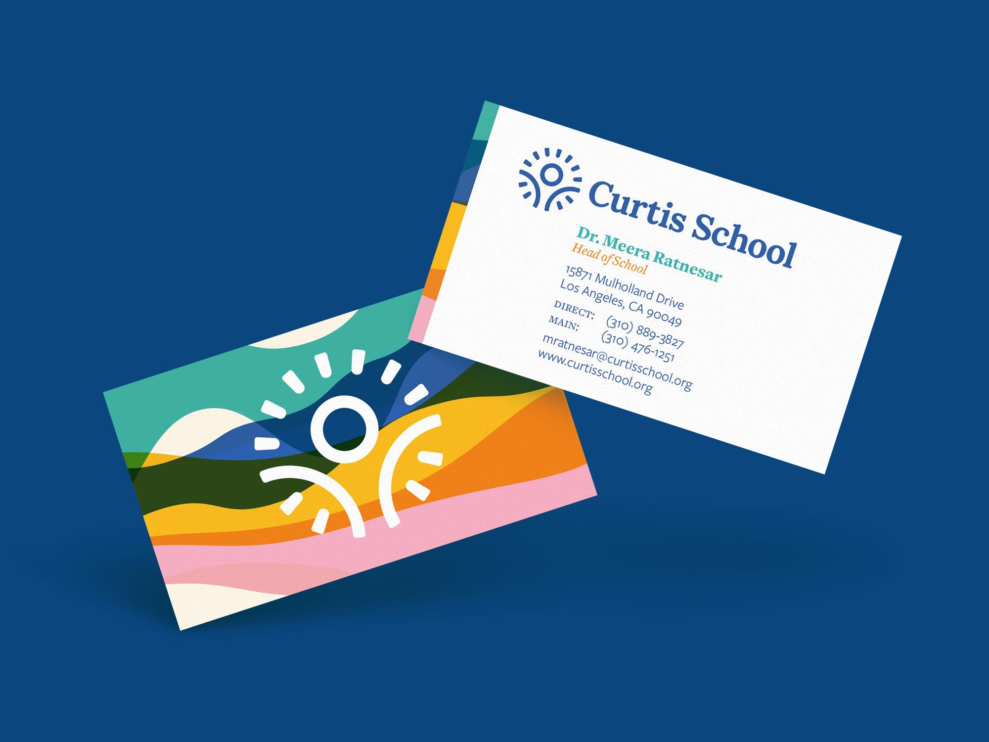 Curtis School Business Cards