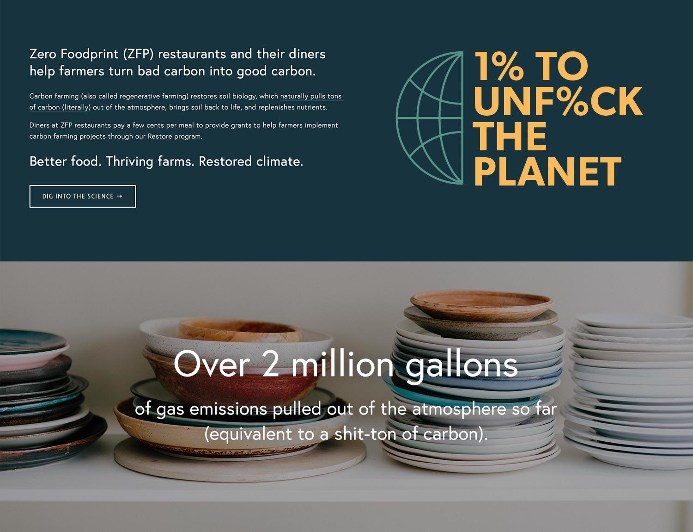 Zero Foodprint Homepage Detail