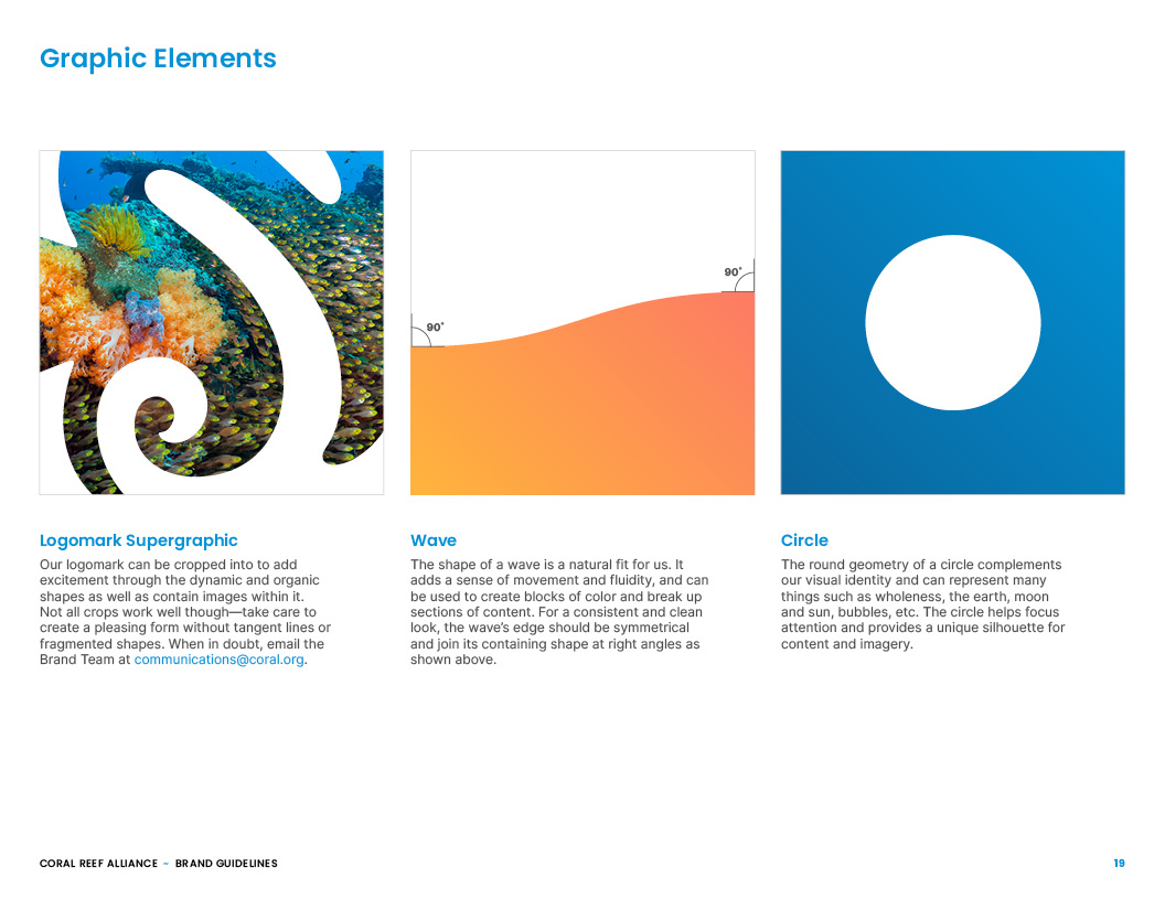 Coral Reef Alliance Brand Guidelines