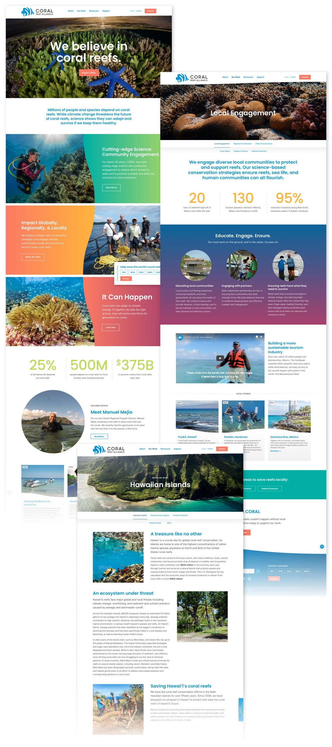 Coral Reef Alliance Website Pages